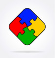 4 simple puzzle pieces connected together vector image vector image