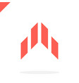 abstract arrow flying rocket icon logo isolated vector image vector image
