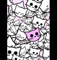 abstract background with funny cats vector image vector image