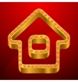 Abstract background with gold house and jewels vector image vector image