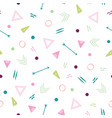 abstract seamless repeat pattern with triangles vector image vector image