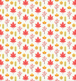 Autumn leaf pattern texture background vector image vector image