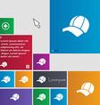 Ball cap icon sign buttons Modern interface vector image vector image