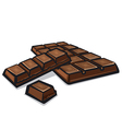 bar of chocolate vector image