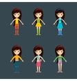 Beautiful cartoon fashion girl cloth vector image vector image