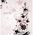 Beautiful floral pink background vector image vector image