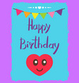 beauty happy birthday card vector image vector image
