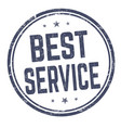 best service sign or stamp vector image vector image