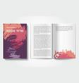 book design template vector image