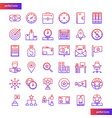 business element gradient icons set vector image vector image