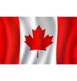 canadian flag maple leaf 3d symbol canada vector image