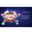casino roulette playing cards wit falling chips vector image vector image