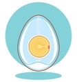 chicken embryo egg vector image