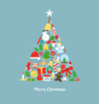 christmas tree made with icons vector image vector image