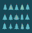 christmas tree silhouette design set concept tree vector image vector image