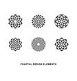 circular fractal design elements vector image vector image