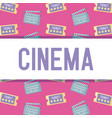 clapboard director with ticket of cinema pattern vector image