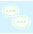 communication bubble icon on white background vector image