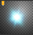 creative concept glow light effect stars bursts vector image vector image