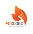 creative fox animal vector image