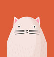 cute cat snout flat adorable vector image