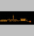 daegu light streak skyline vector image vector image