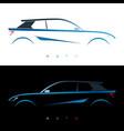 design blue car concept car vector image vector image