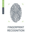 fingerprint recognition or biometric data access vector image vector image