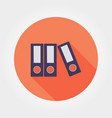 flat folder icon vector image vector image