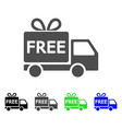 free delivery flat icon vector image vector image
