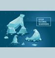global warming concept ecology poster set vector image