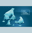 global warming concept ecology poster set with vector image vector image