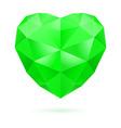 Green polygon heart vector image