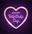 happy valentines day pink lettering inscription vector image vector image