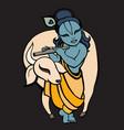 hindu god krishna vector image vector image
