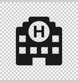 hospital building icon in transparent style vector image vector image