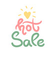 hot sale with heart template design special offer vector image