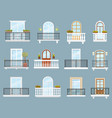 house and apartment building balconies vector image vector image