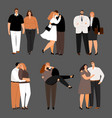 in love couples plus size women and men vector image vector image