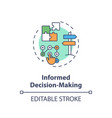 Informed decision making concept icon