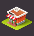 isometric store icon vector image