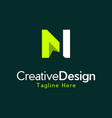 letter n monogram creative modern logo vector image vector image