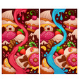 little cakes shop two variations of level map for vector image