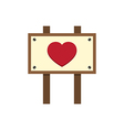 Love Heart Wooden Sign Board vector image vector image