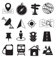 Map Destination and Location Icons Set vector image