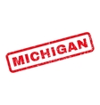 Michigan Rubber Stamp vector image