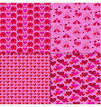 mod valentines day patterns on pink with animals vector image vector image