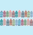 netherlands style houses vector image