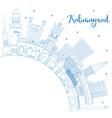 outline kaliningrad russia city skyline with blue vector image vector image