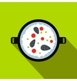 Paella icon flat style vector image vector image